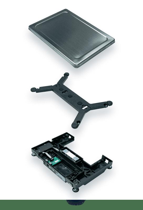 Платформа, металлическая основа и тензометрический датчик в основе